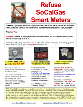 Refuse SoCalGas Smart Meters