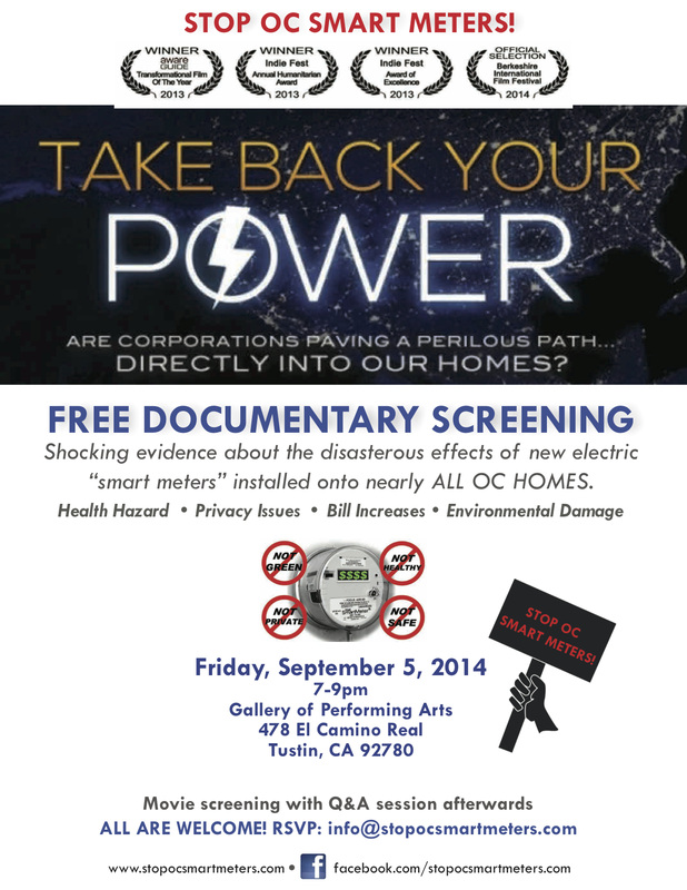 Take Back Your Power September 5th 2014