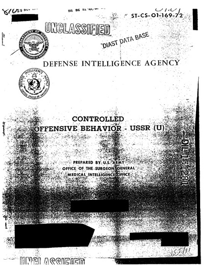 US Army Controlled Offensive Behavior USSR