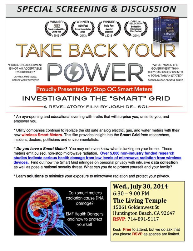 Take Back Your Power July 30, 2014