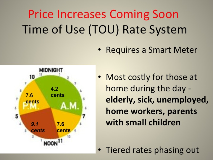 Price Increase with TOU Rates